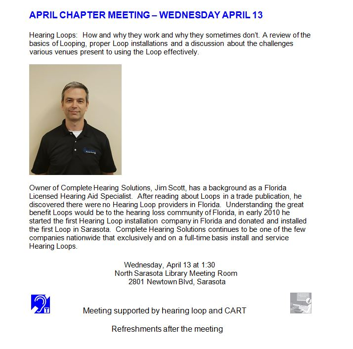 april chapter meeting